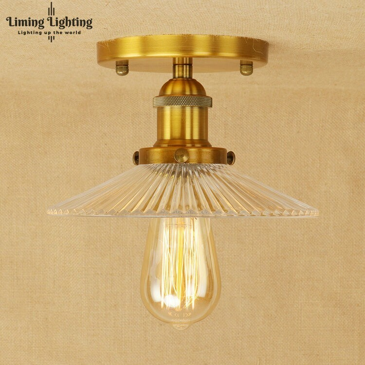 Vintage Ceiling Lights Glass Retro Industrial Lamparas De Techo Restaurant Loft Modern Ceiling Lamp Bar Cafe Dining Room Light цена