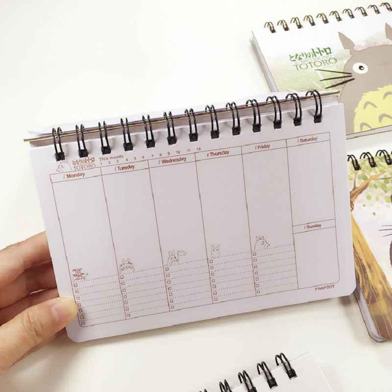 トトロプランナーノートブックアジェンダ2017スケッチブック材料アブラソコムツかわいい日記caderno espiral文房具cadernos漫画cuadern