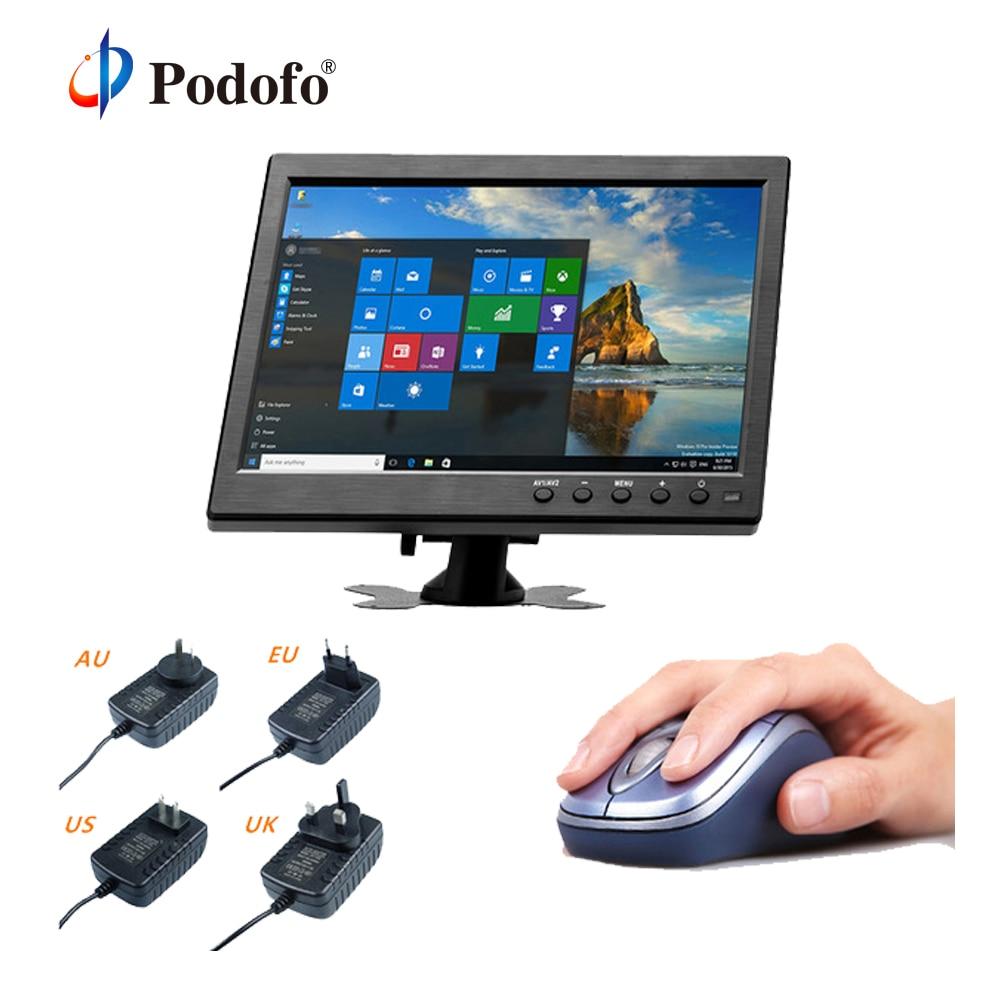 """Podofo 10.1 """"TFT ЖК-дисплей подголовник автомобиля Мониторы VGA/HDMI/AV/USB/SD Порты и разъёмы совместимы Вход С Экран PC/DVD плеер"""