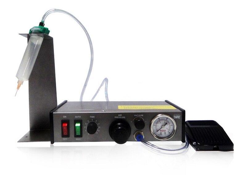 220V AD-982 Semi-Auto Glue Dispenser PCB Solder Paste Liquid Controller Dropper Fluid dispenser 2pcs/Lot