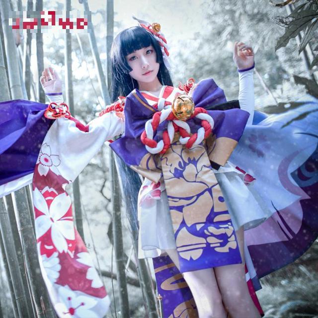 Onmyoji Yuki Onna Cosplay Japanese Snow Fairy Idolized Kimono Costume Japanese Uniform Game Cosplay