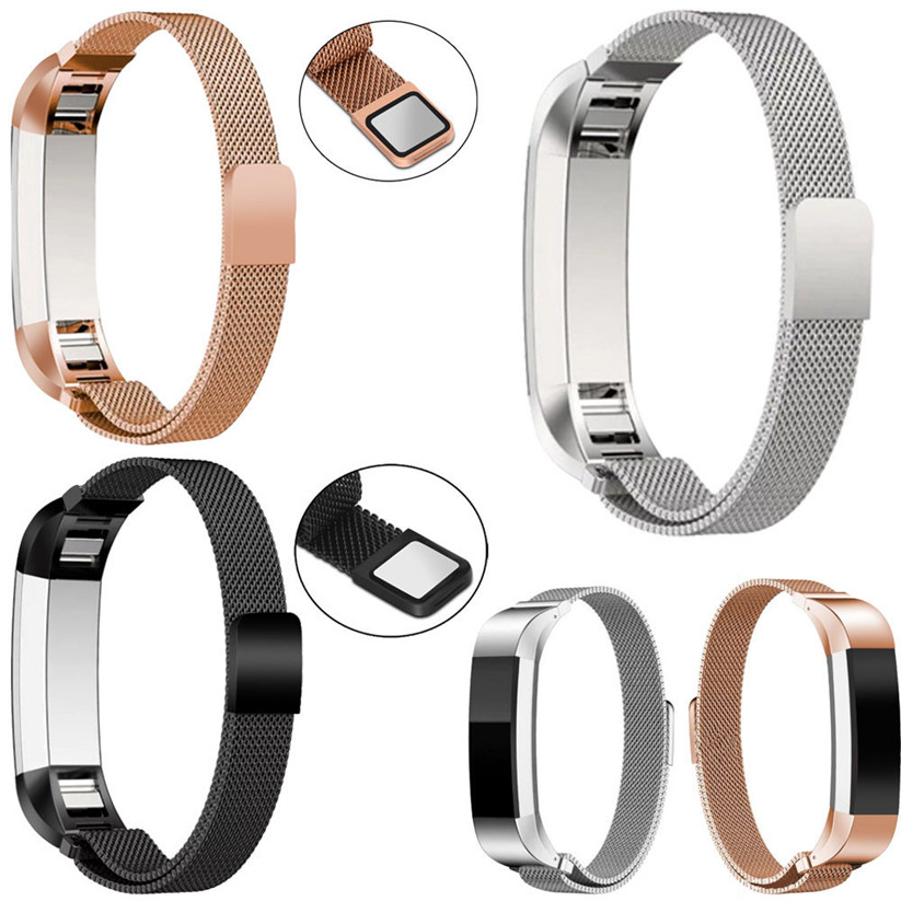HIPERDEAL Wearable Devices Smart Accessories Magnetic Loop Stainless Steel Smart Watch Band Connector For Fitbit Alta jan12