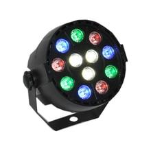 12 RGB LED Stage Strobe Light 8CH Lighting Laser Projector Party Club Colorful Par Light  EU/US Plug