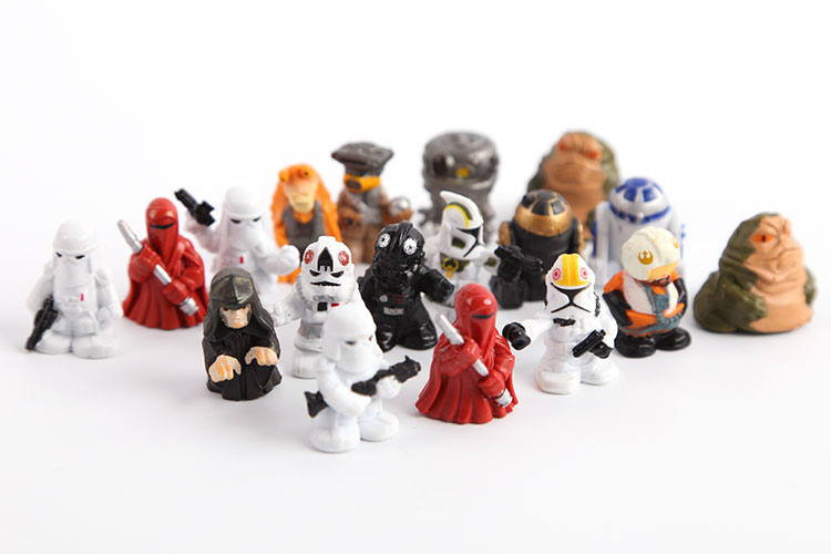 Wholesale 2set/lot(36pcs) 2.5cm Star Wars Mini PVC Action Figures Collectible Model Toys patrulla canina with shield brinquedos 6pcs set 6cm patrulha canina patrol puppy dog pvc action figures juguetes kids hot toys