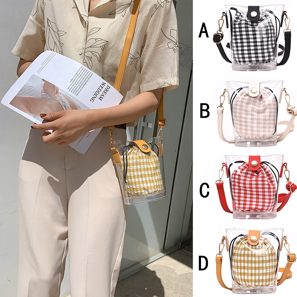 Women's Fashion Jelly Transparent Bag handbag Composite Package crossbody Bag Shoulder Bag Women handbag Torebki Damskie 2019(China)
