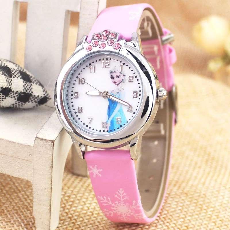 New Ice And Snow Princess Aisha Anna Princess Diamond Child Girl Quartz Watch 2018