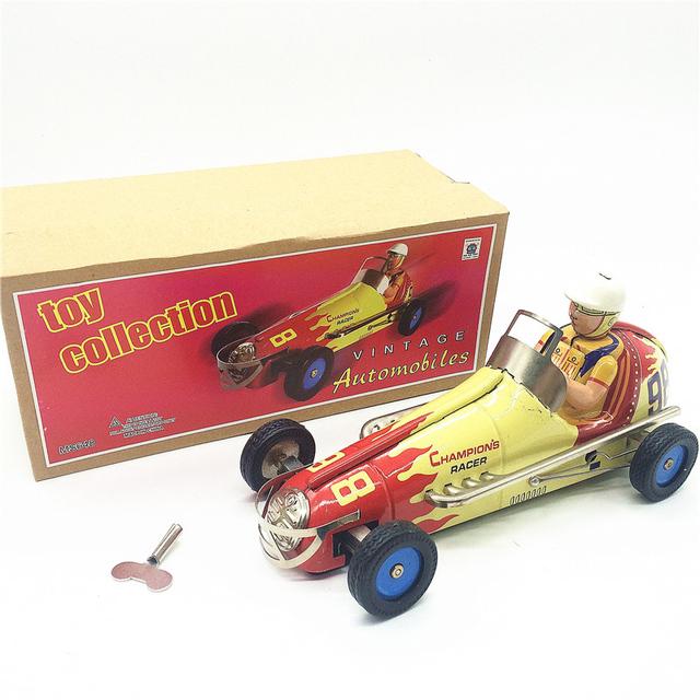 Hojalata reloj Retro juguetes estaño reloj clásico de carreras Rare collectibles