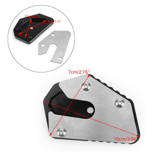 Image 2 - Artudatech For SUZUKI DL V STROM  650 Kickstand Extension Plate Foot Side Stand Enlarge DL650 VSTROM 650 2012 2019 Accessories