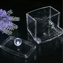 Storage Holders  Acrylic Container Make Up organizer Transparent Cotton Swab Box Case Portable Makeup