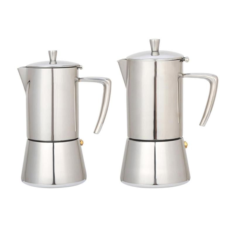 Stainless Steel Coffee Pot Moka Coffee Maker Teapot Mocha Stovetop Tool stainless steel coffee pot moka coffee maker teapot mocha stovetop tool filter percolator cafetiere percolator tool