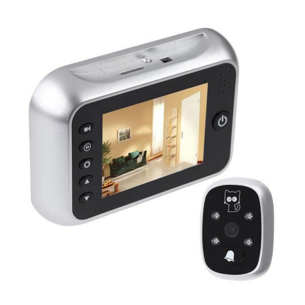 цена на 3.5 LCD T115 Color Screen Doorbell Viewer Digital Door Peephole Viewer Camera Door Eye Video record 120 Degrees Night vision