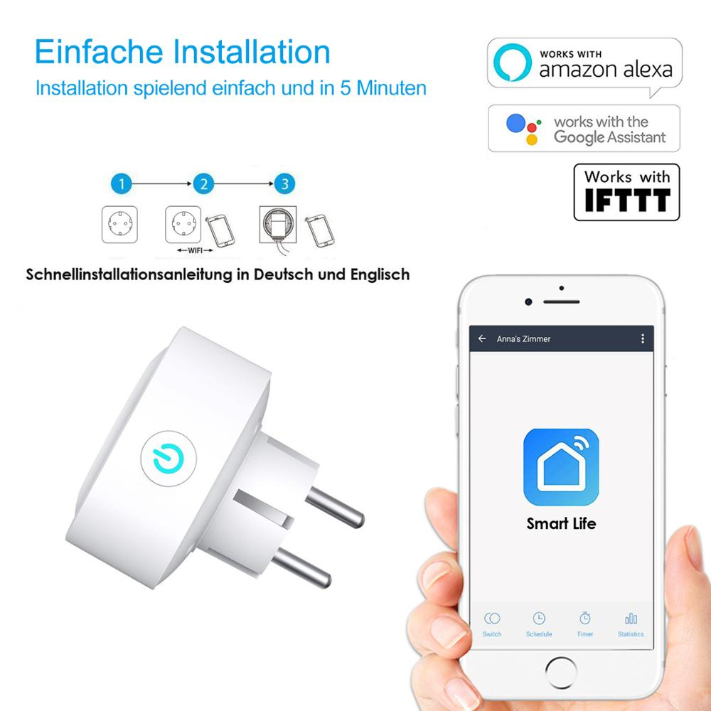 Gosund wifi prise plug EU 4 шт упаковка электрическая мини умная розетка для немецкой станции - 5