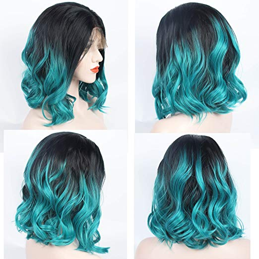 Marquesha Ombre Blue Synthetic Lace Front Bob Wig