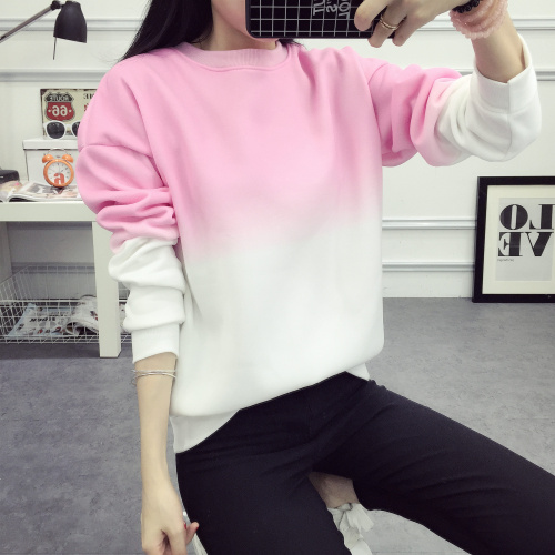 ArtSu Autumn Winter Thicken Fleece Gradient Color Hoodies Sweatshirt Women Hoody Tracksuit Cute Sweatshirts Clothing ASHO50037 6