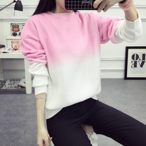 ArtSu Autumn Winter Thicken Fleece Gradient Color Hoodies Sweatshirt Women Hoody Tracksuit Cute Sweatshirts Clothing ASHO50037 6