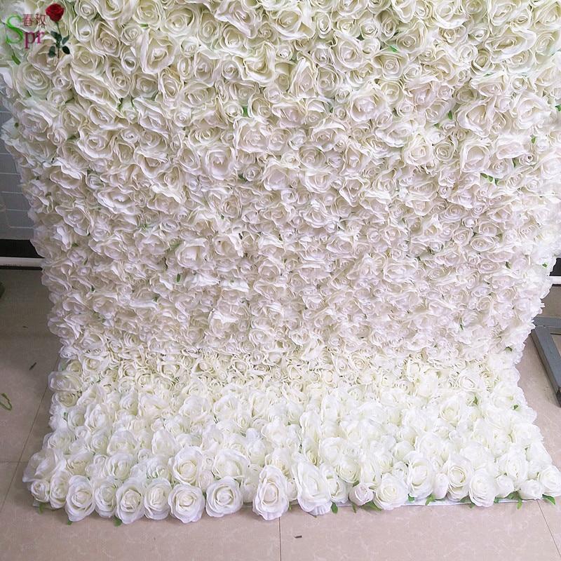 SPR свернутый тканевый цветок стены 4 фута * 8 футов Искусственный Свадебный случай фон композиция Цветы украшения Бесплатная доставка - 3
