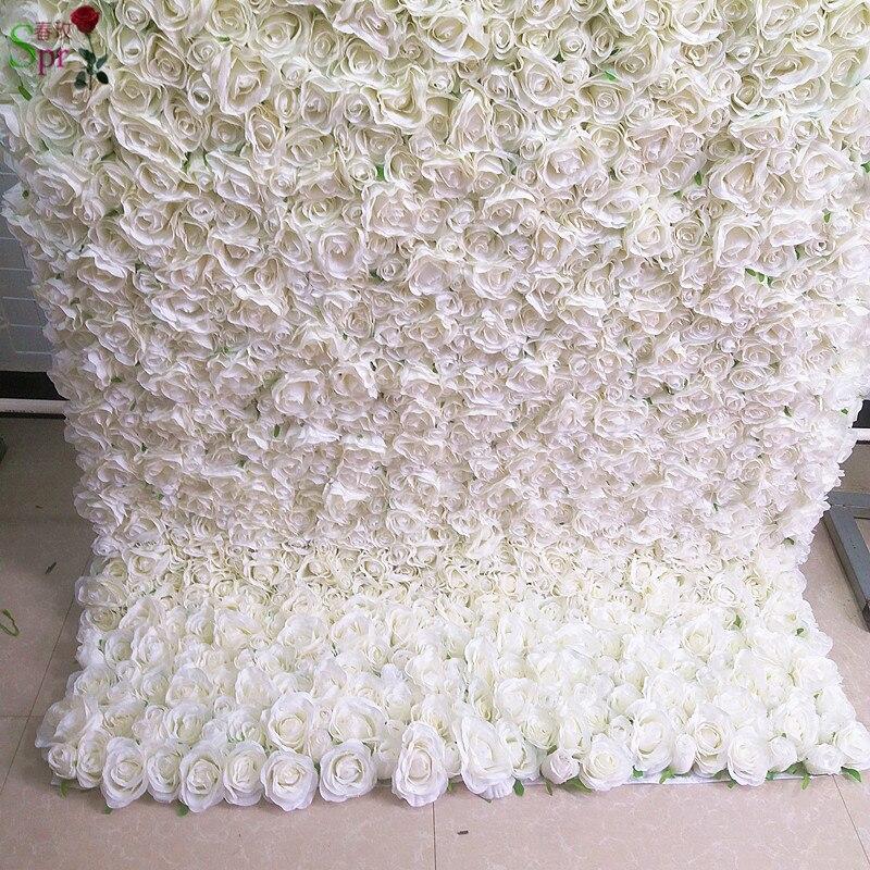 SPR retrousser tissu fleur mur 4ft * 8ft artificielle mariage occasion toile de fond arrangement fleurs décorations livraison gratuite - 3