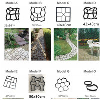Plastic Driveway Paving Stone Mold Concrete Stepping Pathmate Pavement Mould Paver 8 Type Of Cement Paving