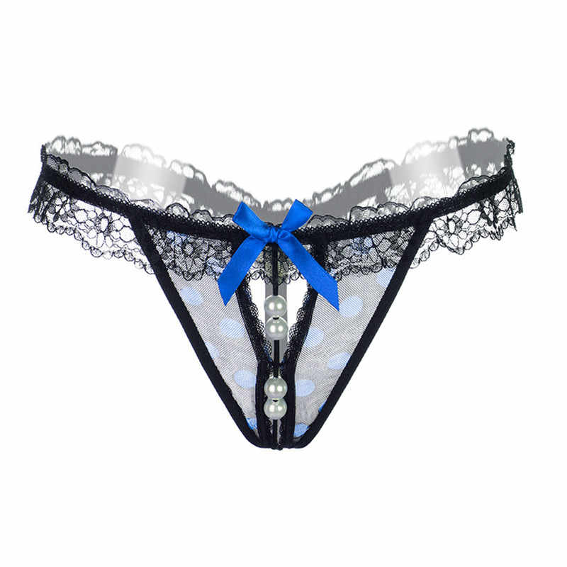 be0954697ff ... Lingerie Sexy Women Thongs And G Strings Pearls Tangas Women Sexy  Crotchless Panties open crotch Panty ...