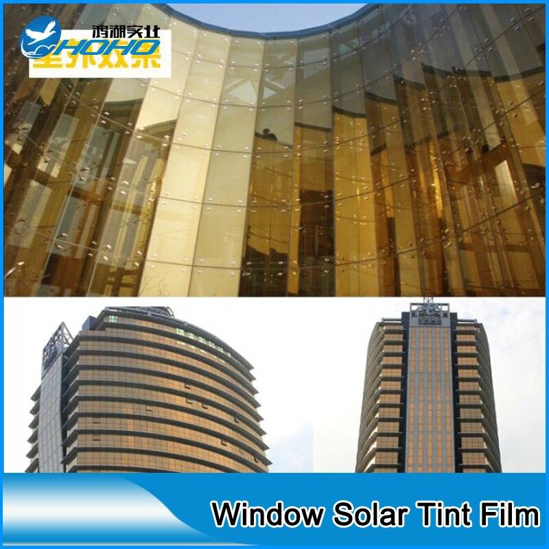 Премиум Защита от солнца тени Плёнки Красота золотого и серебряного цвета окно оттенок Плёнки Солнечный Управление окна Плёнки 5ftx33ft (1.52 м x