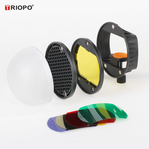 Image 2 - TRIOPO MagDome couleur filtre, réflecteur, nid dabeille, diffuseur boule Kits pour GODOX tt600 TT685 V860II YN560III/IV Flash VS AK R1