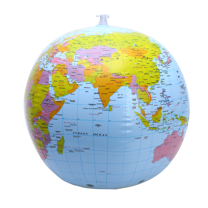 38cm Inflatable World Globe Earth Teaching Geography Map Beach Ball Kids Toy World & Celestial Globes