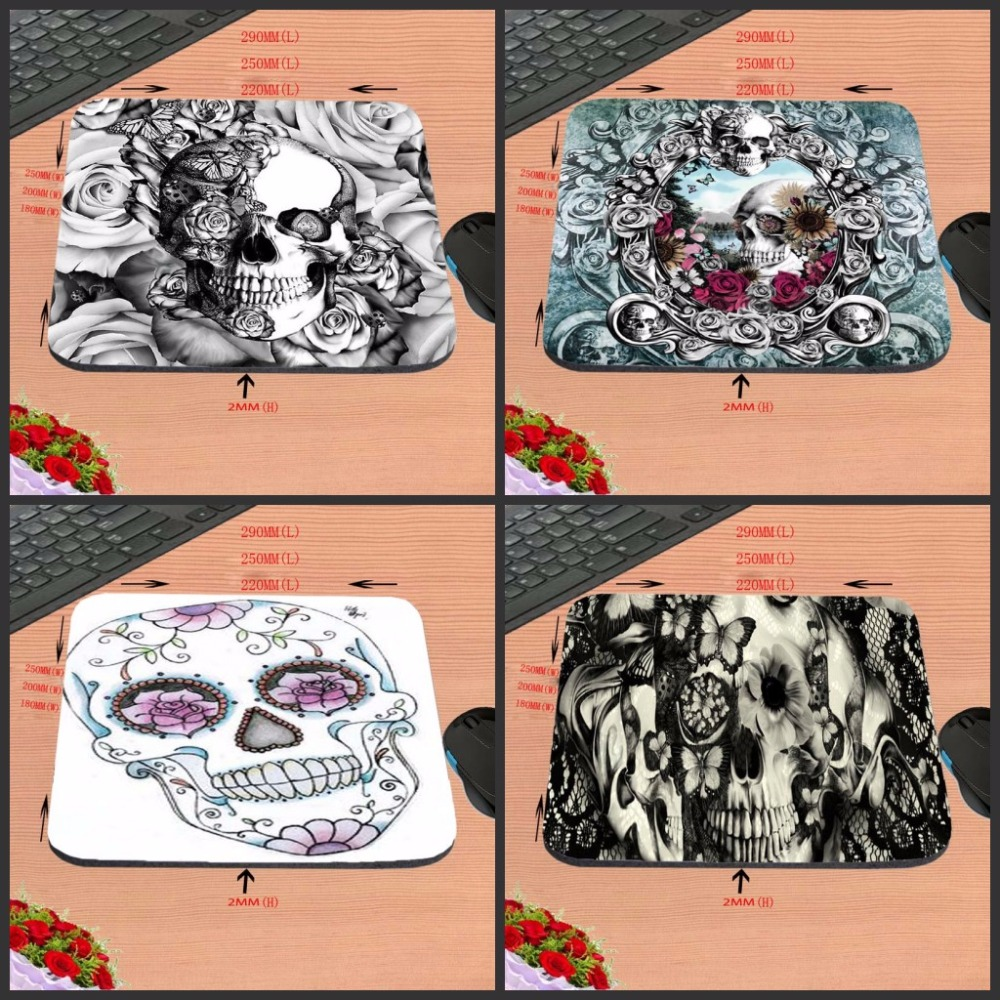 Mairuige Terrible Skull Custom Anti-slip Gaming Mousepad Computer Mouse Pad Mat For Optical Mice Trackball Mouse As A Gift