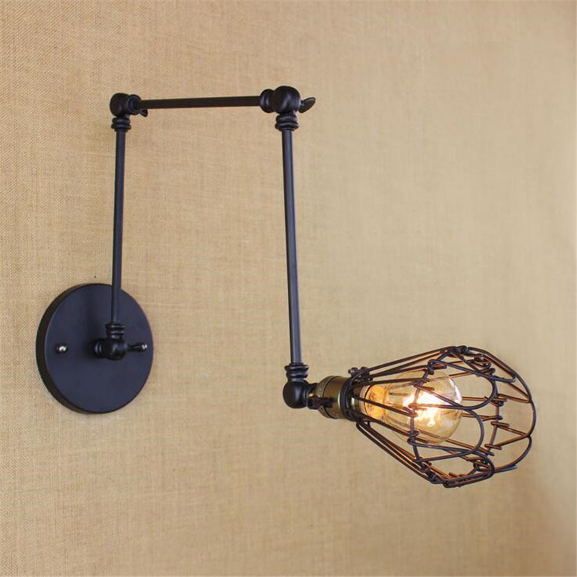 Diy Wall Light Fixtures: Vintage DIY Metal Wall Sconce Wall Lights Fixtures Retro