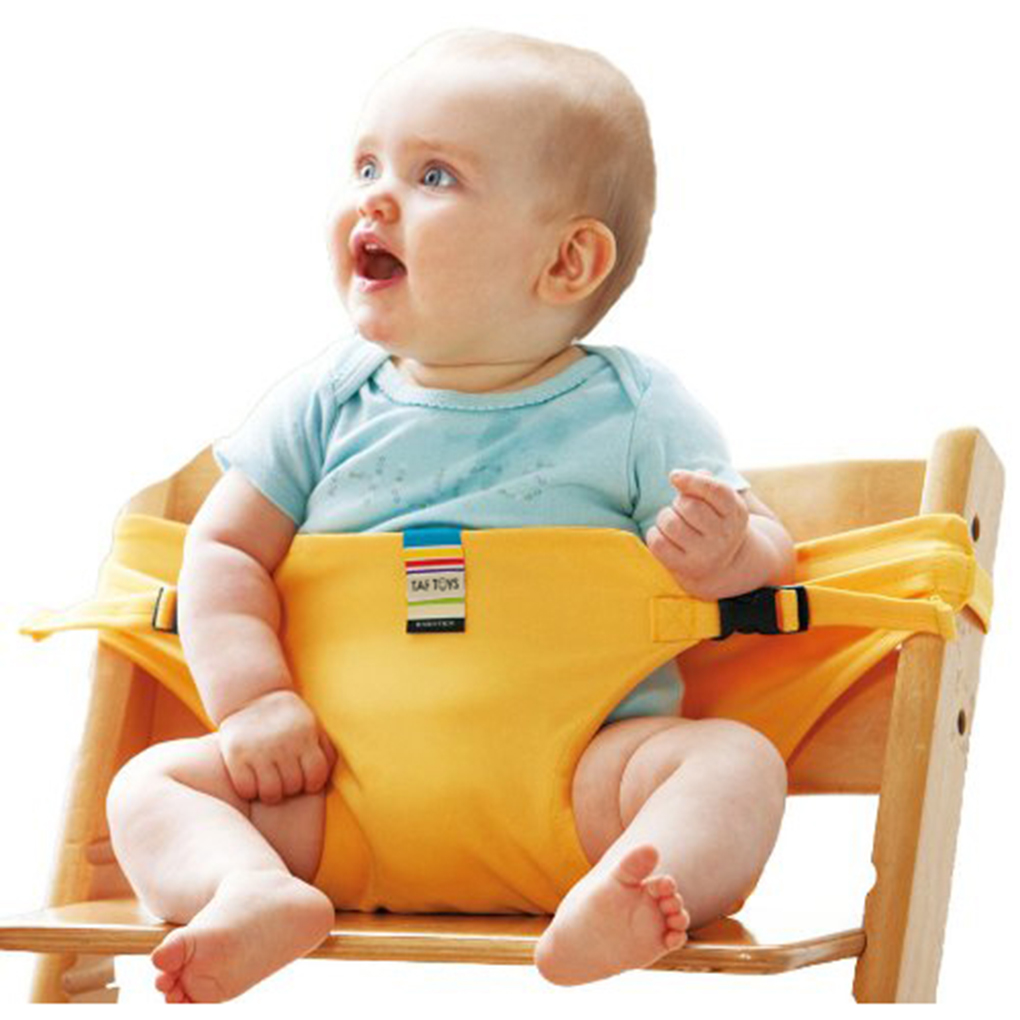 New Baby High Chair For Feeding Portable Safety Baby Chair Harness Travel Foldable Washable Infant High Dinning Cover Seat