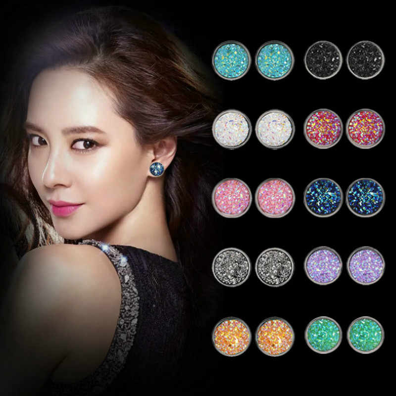 Luxury Crystal Shine Ear Drop Dangle Earrings For Women 10 Colors Round With Cubic Zircon Charm Flower Drop Earrings