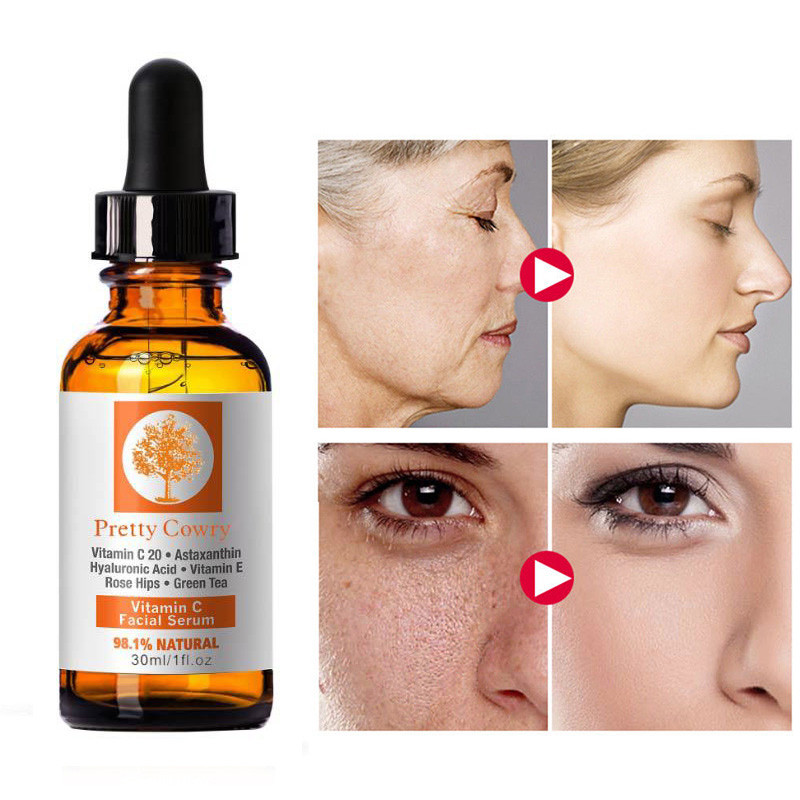Vitamin C E Essence Hyaluronic Acid Whitening 98.1% Natural Face Serum 30ml The Latest Technology Hyaluronic Acid Skin Smooth