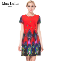 Max LuLu Women S Summer Dresses 2017 Fashion Party Printed Design Women Dress High Quality Brand
