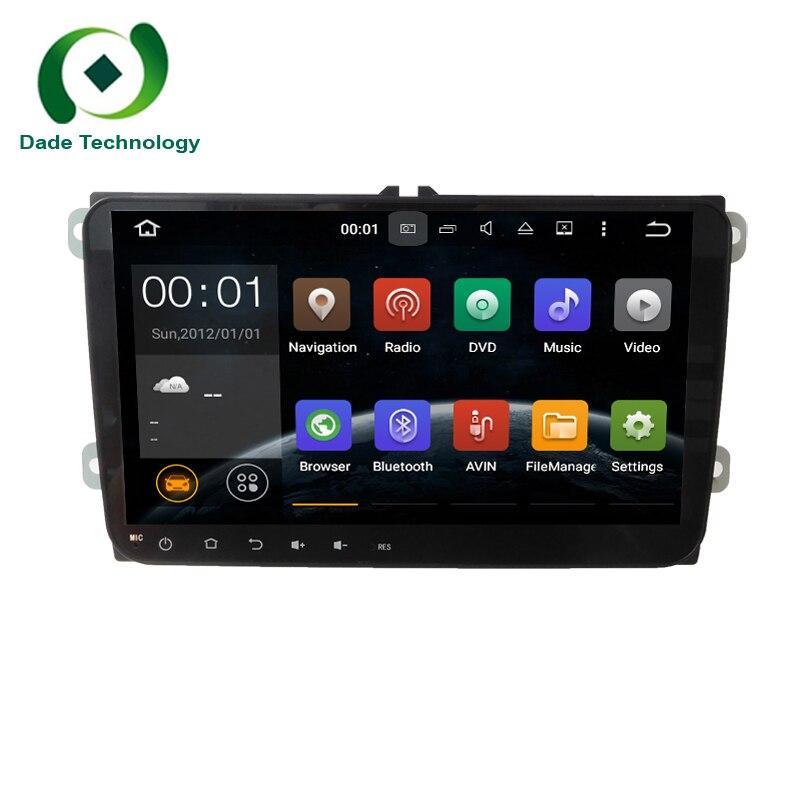 "9"" HD 1024*600 Android 5.1.1 Quad core 2 DIN car dvd gps Radio for Volkswagen VW Golf Tiguan Skoda Fabia Rapid Seat Leon Altea"