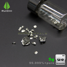 Lingüeta de metal de germânio puro, 5g de alta pureza 99.999% para coleção de elemento