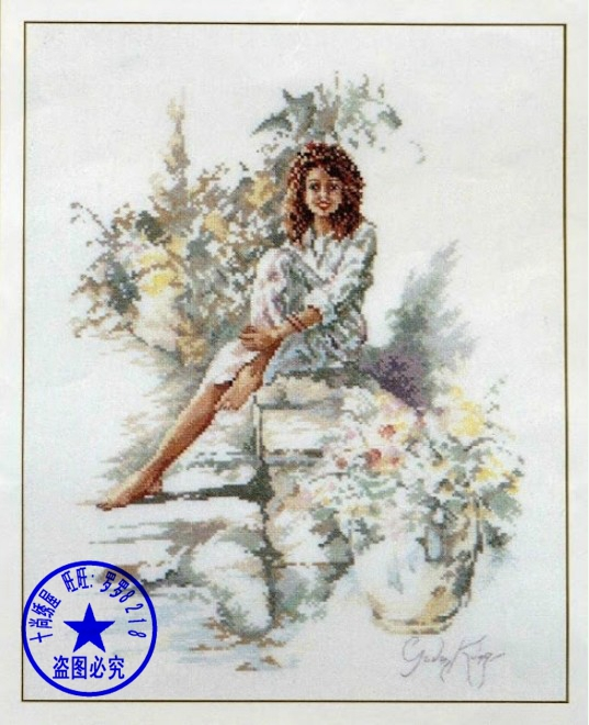 Top Quality beautiful lovely counted cross stitch kit flower girl, flower lady, flower woman Lanarte 33869