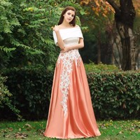 Real Photos 2017 Long Evening Gowns Fashion Lace Applique Maxi Skirts Women Custom Made Saia Longa