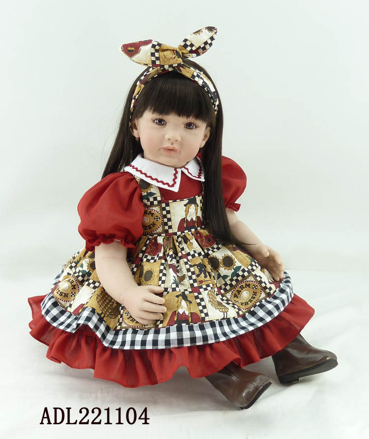 Fashion reborn vinyl silicone baby dolls accompany sleeping lifelike princess toddler doll kid high-end christmas boutique gifts the cute silicone reborn baby dolls accompany sleeping lifelike cute princess toddler doll kid popular christmas new year gifts