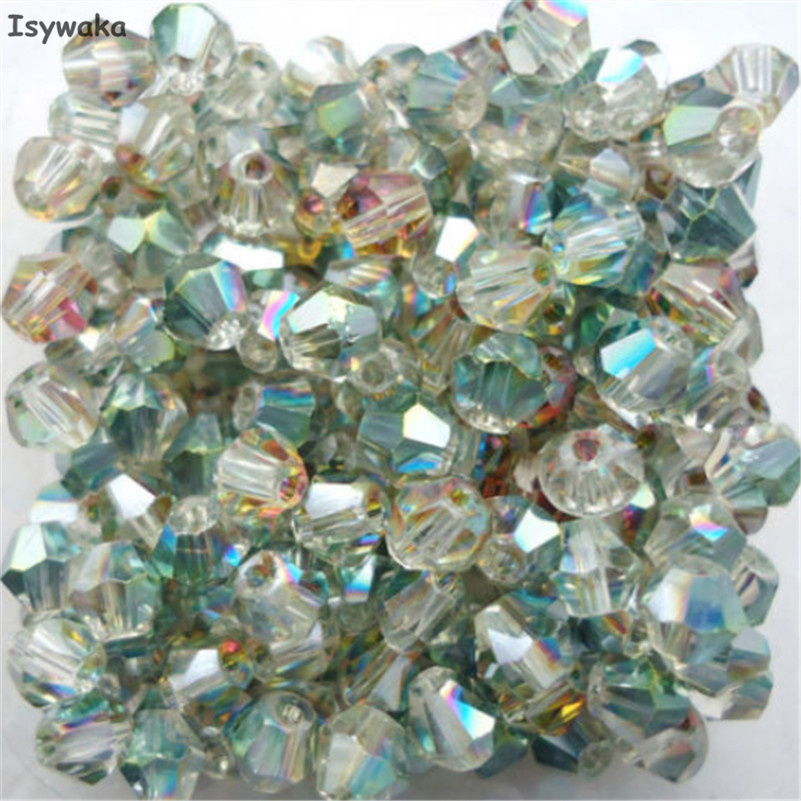 Free Shipping 100pcs swarovski Crystal 4mm 5301# Bicone Beads