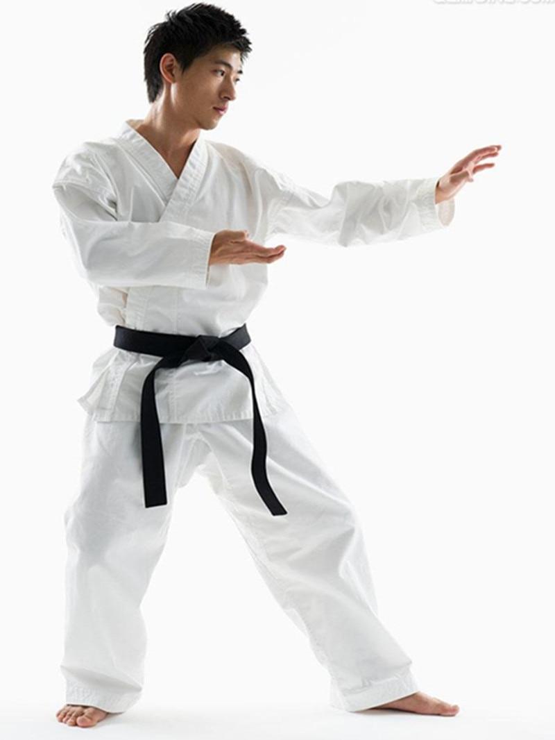 Kinderen Volwassen Karate Taekwondo Pak Set Wushu Sportswear Sanda Kleding Elegante Vorm