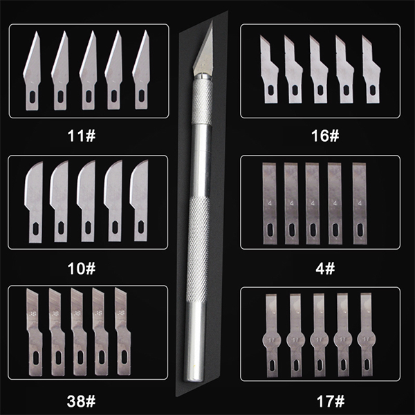Knife Scalpel Blade Slip Metal Wood Crafts Cutting Knife DIY Carving Tool Carving Knife Model Maintenance Scalpel Art Supplies