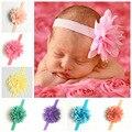 Sael caliente Recién Nacido Chica Gasa Flor Headwear Infantil Recién Nacido Cabeza Accesorio Flor Patrón de Diseño Popular Dieciocho Colores