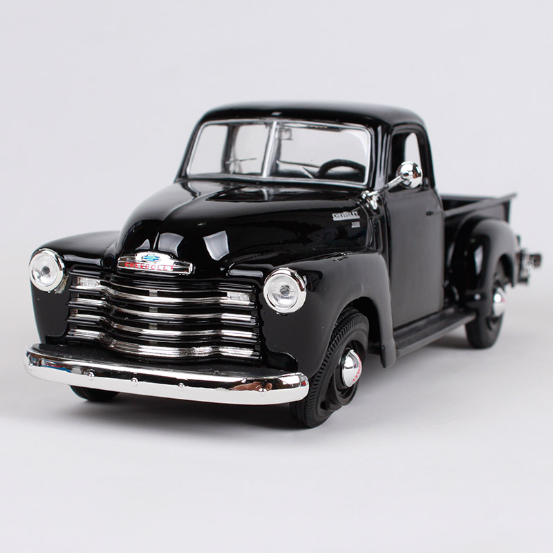 Maisto 1:25 1950 Chevrolet 3100 black red pick-up big truck model 200*80*73mm truck pick up vehicle diecast car model 31952 maisto 1 24 2017 white blue silver f 150 partor pick up truck model for ford big emulation pick up car diecast for ford 31266