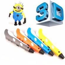 3д ручка Первое Поколение 3D Ручка with100 ~ 250 В 2A Адаптер Лучший Подарок 3d ручка для рисования 3D Перо Принтер с Бесплатным ABS Накаливания Гре 3D Ручки 3d ручка для рисования 3д ручка