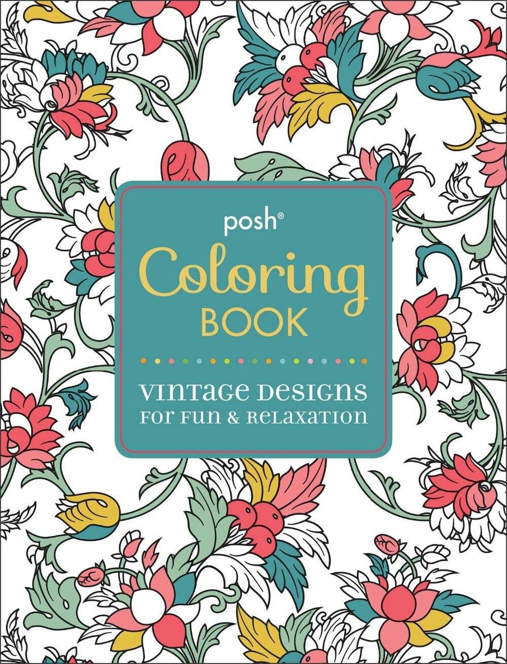 Posh Adult Coloring Book Vintage Designs For Fun