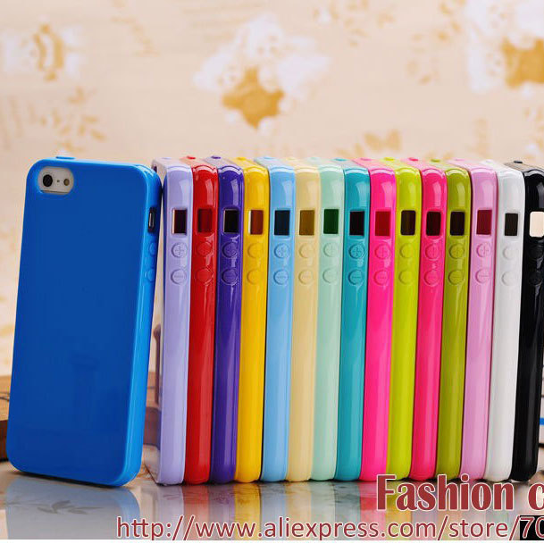 For iphone 5 5S case 6 6S 7 cover TPU rubber material bright candy colors top quality much better than silicone 1pc