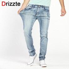 Drizzte Brand Mens Jeans Trendy Stretch Blue Grey Denim