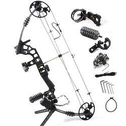 Junxing M120 Sogno Nero In Lega di Alluminio di caccia Arco Compound Con 20-70 £ Draw regolabile Peso