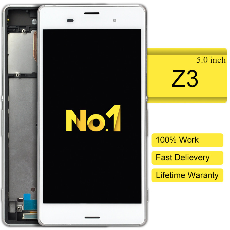 10pcs 2015 New Sale For Sony For Xperia Z3 Lcd Screen Display And Touch Screen Pannel