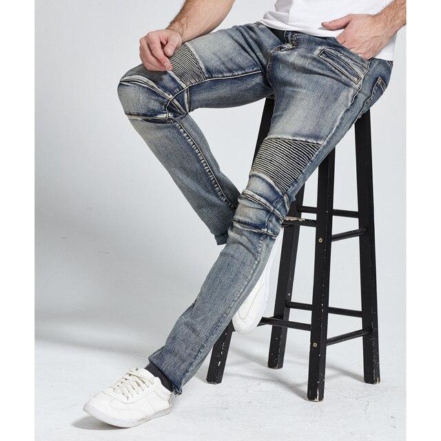 2017 Men Jeans Design Biker Jeans Skinny Strech Casual Jeans For Men Good Quality H1703 1