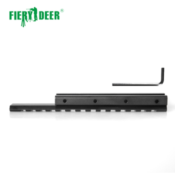 Fiery Deer High Quality 11mm to 20mm Dovetail Rail Adapter Converter Mount Scope Base Aluminum Alloy Black/D0026B